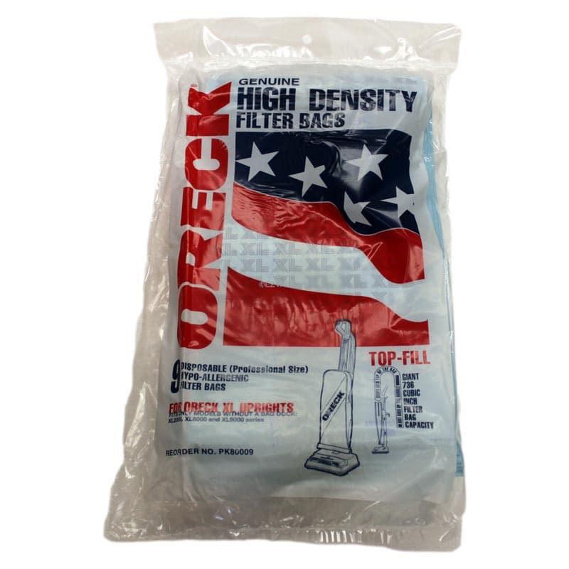 Oreck Xl Genuine High Density Top Fill Vacuum Bags 9 Pack