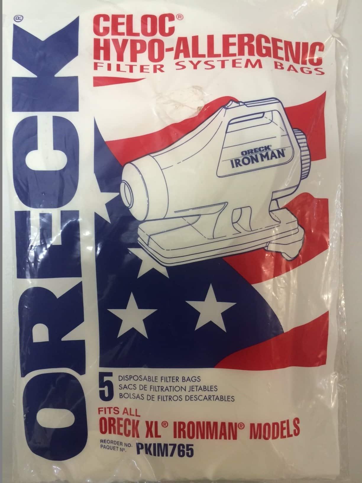 Oreck Xl Ironman Models Vacuum Bags